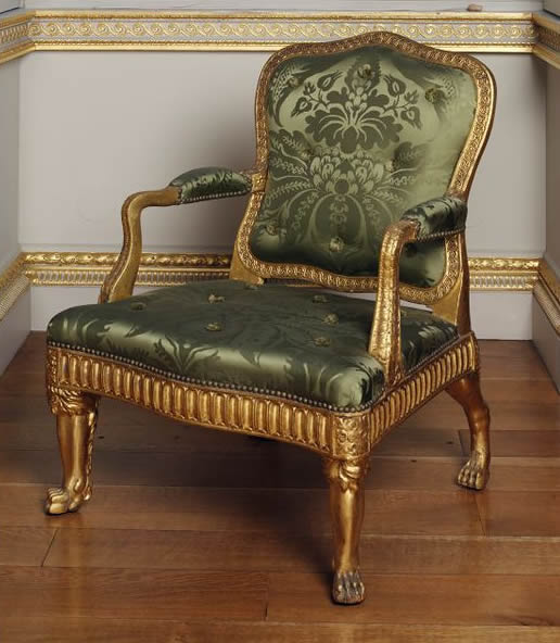 Delicieux French Silk Chair